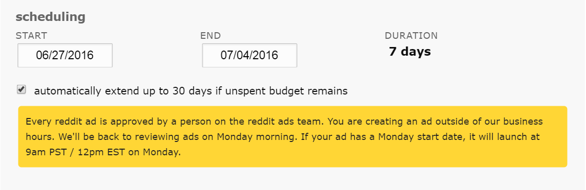 reddit ads auto extensions
