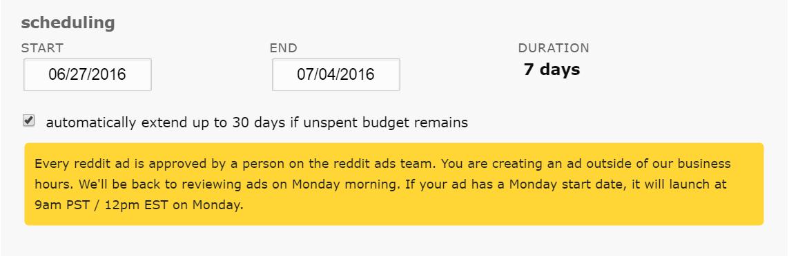 reddit ads auto extensions