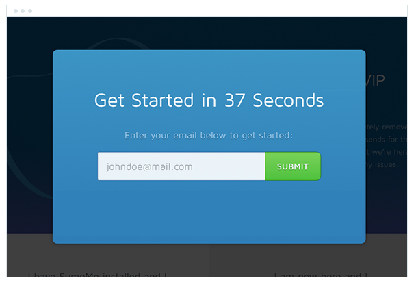 email modal with no ability to exit