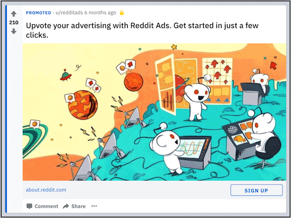 reddit cta button on desktop ad